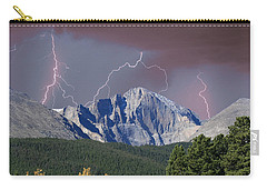 Longs Peak Lightning Storm Fine Art Photography Print Carry-all Pouch by James BO  Insogna