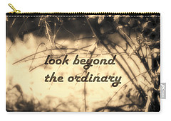 Carry-all Pouch featuring the photograph Look Beyond by Ann Powell