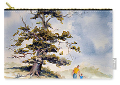 Carry-all Pouch featuring the painting Look Dad by Sam Sidders