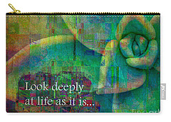 Carry-all Pouch featuring the digital art Look Deeply 2017 by Kathryn Strick