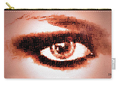 Carry-all Pouch featuring the digital art Look Into My Eye by Paula Ayers
