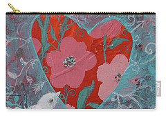 Carry-all Pouch featuring the painting Look Into My Heart  by Robin Maria Pedrero