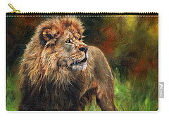 Carry-all Pouch featuring the painting Look Of The Lion by David Stribbling