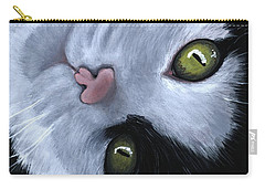 Carry-all Pouch featuring the painting Looking At You by Anastasiya Malakhova