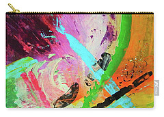 Carry-all Pouch featuring the painting Looking Back by Everette McMahan jr