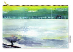 Carry-all Pouch featuring the painting Looking Beyond by Anil Nene