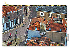 Carry-all Pouch featuring the photograph Looking Down From The Church Tower In Brielle by Frans Blok