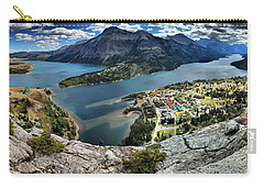 Looking Down On Waterton Lakes Carry-all Pouch