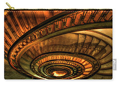 Carry-all Pouch featuring the photograph Looking Down The Ponce Spiral Staircase Atlanta Georgia Art by Reid Callaway