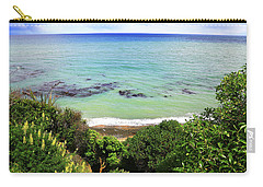 Carry-all Pouch featuring the photograph Looking Down To The Beach by Nareeta Martin