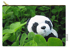 Carry-all Pouch featuring the photograph Looking For A Lucky Clover by Ausra Huntington nee Paulauskaite