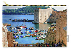 Looking Out Onto Dubrovnik Harbour Carry-all Pouch