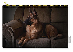 Looking Out The Window - German Shepherd Dog Carry-all Pouch