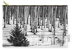 Looking Through The Aspen Black And White Carry-all Pouch