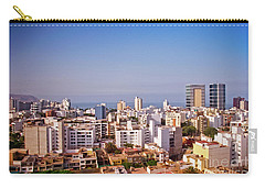 Carry-all Pouch featuring the photograph Looking Towards The Sea - Miraflores by Mary Machare