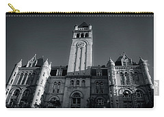 Looking Up At The Trump Hotel In Black And White Carry-all Pouch by Greg Mimbs