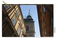 Looking Up From A Stockholm Street Carry-all Pouch by Margaret Brooks