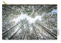 Carry-all Pouch featuring the photograph Looking Up In The Forest by Hannes Cmarits