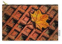 Carry-all Pouch featuring the photograph Looks Like Another Leaf by Paul Wear