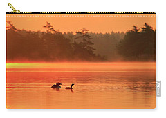Loon And Chick At Sunrise Carry-all Pouch