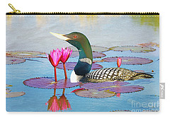 Loon And Lotus Carry-all Pouch