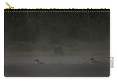Loon And Moose In The Mist Carry-all Pouch