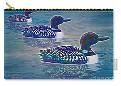 Carry-all Pouch featuring the painting Loon Lagoon by Teresa Ascone