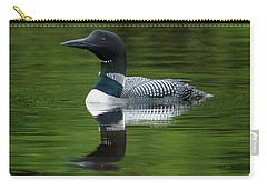 Loon Reflections On The Lake Carry-all Pouch