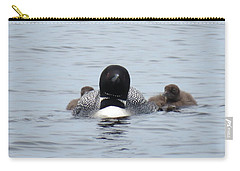 Loon With Chicks Carry-all Pouch