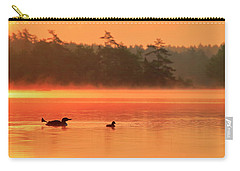 Loon With Young At Sunrise, Nova Scotia Carry-all Pouch