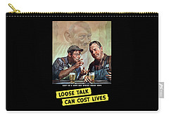 Loose Talk Can Cost Lives - Ww2 Carry-all Pouch by War Is Hell Store