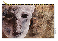 Carry-all Pouch featuring the digital art Loosing The Real You Behind The Mask by Gun Legler
