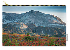 Loowit Falls Mount St Helens Wildflowers Carry-all Pouch by Mike Reid