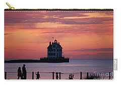 Lorain Lighthouse Sunset Carry-all Pouch