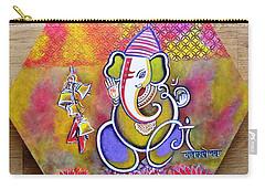 Lord Ganesha With Mantra Om Gam Ganapateye Namaha Carry-all Pouch