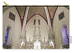 Carry-all Pouch featuring the photograph Loretto Chapel Santa Fe by Kurt Van Wagner