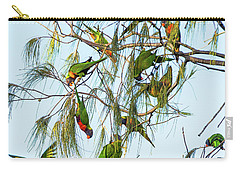 Lorikeets Swarming From Tree To Tree Carry-all Pouch