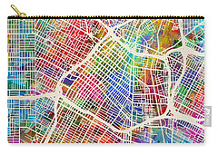 Los Angeles City Street Map Carry-all Pouch by Michael Tompsett
