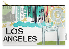 Los Angeles Cityscape- Art By Linda Woods Carry-all Pouch by Linda Woods