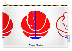 Carry-all Pouch featuring the digital art Los Angeles Clippers Logo Redesign Contest by Tamir Barkan