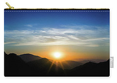 Carry-all Pouch featuring the photograph Los Angeles Desert Mountain Sunset by T Brian Jones