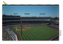 Carry-all Pouch featuring the photograph Los Angeles Dodgers Dodgers Stadium Baseball 2063 by David Haskett