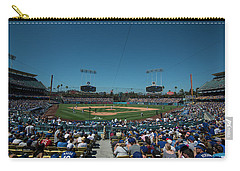 Carry-all Pouch featuring the photograph Los Angeles Dodgers Dodgers Stadium Baseball 2110 by David Haskett