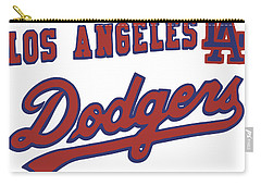 Carry-all Pouch featuring the mixed media Los Angeles Dodgers by Gina Dsgn