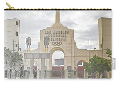 Carry-all Pouch featuring the digital art Los Angeles Memorial Coliseum  by Anthony Murphy