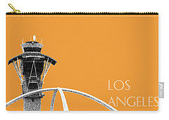 Los Angeles Skyline Lax Spider - Orange Carry-all Pouch by DB Artist