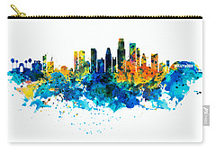 Los Angeles Skyline Carry-all Pouch by Marian Voicu