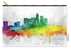 Los Angeles Skyline Mmr-uscala05 Carry-all Pouch by Aged Pixel