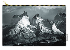 Los Cuernos In Black And White Carry-all Pouch by Andrew Matwijec