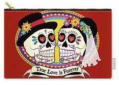 Los Novios Sugar Skulls Carry-all Pouch